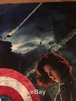 THE AVENGERS Banner 5 x 12 FT POSTER Marvel Disney Double Sided RARE