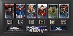 THE AVENGERS Marvel Comics Walt Disney 2012 MOVIE PHOTO and FILM CELL MONTAGE