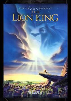 THE LION KING CineMasterpieces 1SH ORIGINAL MOVIE POSTER DS NM C9 1994 DISNEY
