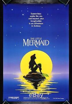THE LITTLE MERMAID CineMasterpieces ORIGINAL ROLLED DS DISNEY MOVIE POSTER 1989