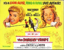 THE PARENT TRAP original DISNEY movie poster HAYLEY MILLS/MAUREEN O'HARA
