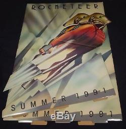 THE ROCKETEER 1991 Original Disney Movie Theatrical Standee Display in Box MINT