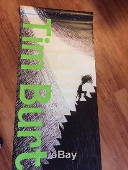 TIM BURTON Rare Vinyl Street Banner 8ft Tall Poster Disney LACMA ART