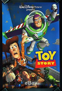 TOY STORY CineMasterpieces ORIGINAL DS NM-M DISNEY PIXAR MOVIE POSTER 1995