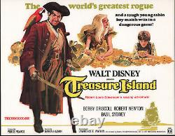 TREASURE ISLAND original DISNEY movie poster ROBERT NEWTON/BOBBY DRISCOLL