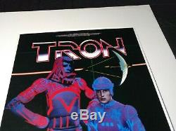 TRON 1981 Original Promotional Movie Poster Walt Disney 28X18 Made in Japan