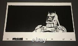 TRON (1982) RARE SARK 12x20 HIGH-CONTRAST KODALITH PHOTO ANIM. ART + COA