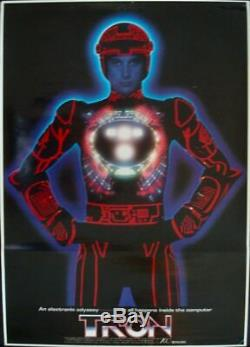 TRON Japanese B2 movie poster A 1982 DISNEY BRUCE BOXTLEINER NM