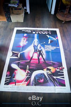TRON Walt Disney 4x6 ft Vintage French Grande Movie Poster 1982