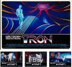 TRON italian fotobusta photobusta movie poster set x8 DISNEY SCI-FI JEFF BRIDGES