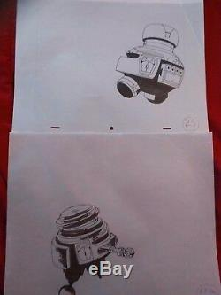 The Black Hole Original Walt Disney Vintage Drawings Lot 15 Originals Old Bob