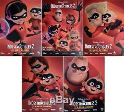 The Incredibles 2 Disney Pixar Rare Bus Shelter Character Movie Posters Set
