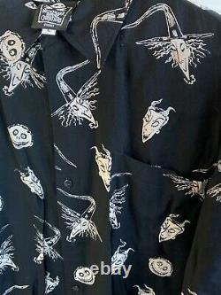 The Nightmare Before Christmas Lock Shock Barrel Disney Sz L Shirt Skellington