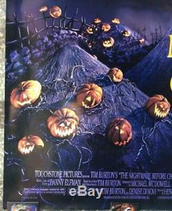 Tim Burton Disney The Nightmare Before Christmas One-Sheet Movie Poster ROLLED