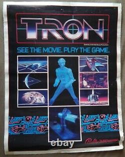 Tron 1982 DISNEY ORIGINAL BALLY Midway Video Game 28x36 Rolled PROMO Poster