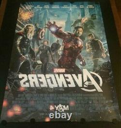 VERY RARE Original The Avengers Advance Movie Poster Double Sided Marvel Disney