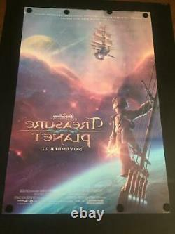 VERY RARE Treasure Planet Advance Movie Poster Double Sided Disney