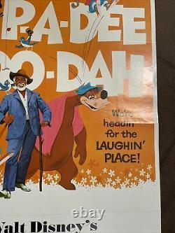 VIntage Original Walt Disney Song Of The South 1972 Movie Poster