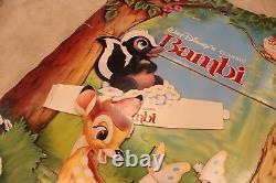 Vintage 1980s Walt Disney Bambi Cardboard Standee Movie Store Display Rare