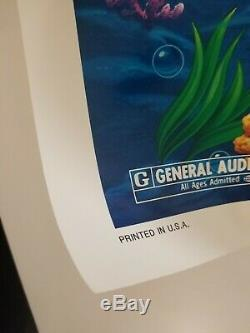 Vintage 1989 DISNEY'S THE LITTLE MERMAID One Sheet Recalled Poster ARIEL URSULA