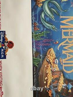 Vintage 1989 The Little Mermaid Disney BANNED Movie Poster 70x36 MGM Banner