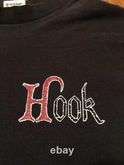 Vintage 1991 Hook T-Shirt Size L Promo Disney Peter Pan Robin Williams Movie