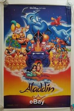 Vintage 1992 DIsney's ALADDIN One Sheet Movie Poster Unused Robin Williams