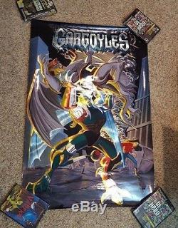 Vintage 1994 Disney Gargoyles Spectra Foil Movie Poster 26 x 39