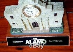 Vintage 2004 The Alamo Movie Promo Statue Davy Crockett Jim Bowie Disney Clock