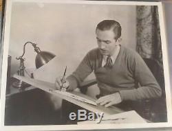 Vintage Disney B/ W Movie Photograph of Walt Disney 1930's