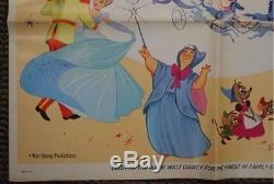 Vintage Disney CINDERELLA One Sheet POSTER Unframed SIGNED MARC DAVIS movie