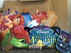 Vintage Disney Little Mermaid Full Movie Display Standee 90s Video Store VHS