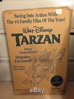 Vintage Disney Store Display Huge Standee Tarzan (E2893) Very Large 22lbs