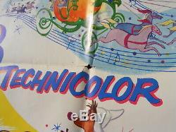 Vintage Original CINDERELLA Disney One Sheet MOVIE POSTER 1957
