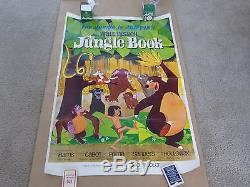 Vintage Original Disney 1967 Jungle Book Movie Poster Near Mint And Dated