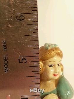 Vintage SNOW WHITE & THE SEVEN DWARFS DISNEY Cast Iron Toy FIGURES COMPLETE