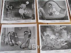 Vintage Set of 12 Disney Animated Film The Aristocats 8X10 Photo Stills