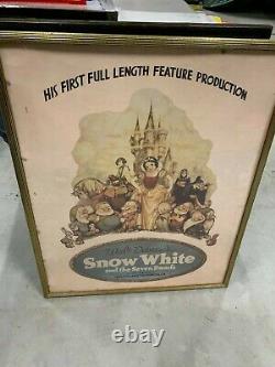 Vintage Snow White Framed Movie Poster