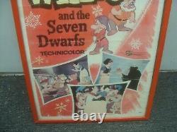 Vintage Snow White & The Seven Dwarfs 1958 Poster Walt Disney Classic R58/1