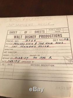 Vintage Walt Disney Frankenstein & The Whiz Kids Blueprints RARE