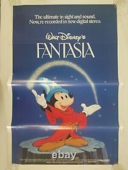 Vintage Walt Disney's FANTASIA (1940) 1982 ReRelease One Sheet Movie Poster