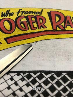 Vtg 1987 Disney Who Framed Roger Rabbit Toon Town Shirt Jessica Rabbit Size M