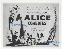 WALT DISNEY ALICE CARTOON 1920's ORIGINAL Theatre Still LOBBY CARD MJ WINKLER
