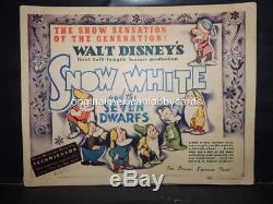 WALT DISNEYS SNOW WHITE AND THE SEVEN DWARFS 8, U. S. LOBBY CARDS 1937 1st RELE