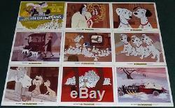Walt Disney 101 Dalmatians Original R 1979 Lobby Card Set Of 9 Cruella De VIL