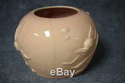 Walt Disney 1940 Fantasia Vernon Kilns Pottery Goldfish Bowl Vase Pale Salmon