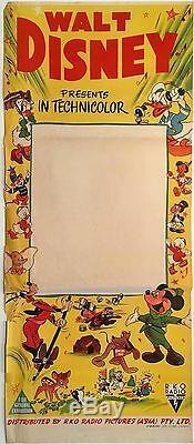 Walt Disney 1940's Australian'Stock' Daybill Poster Unused Very Rare