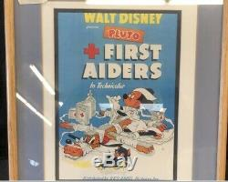 Walt Disney First Aiders 1944 Framed Promotional Art Ultra Rare Circa 1944
