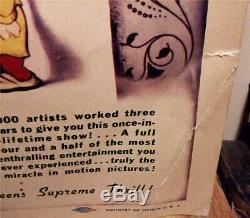 Walt Disney Original Vintage Snow White And The Seven Dwarfs Us Title Lobby Card