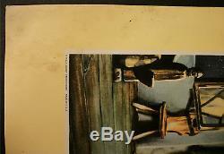 Walt Disney Pinocchio Lobby Cards (2) Original 1940 11 X 14 Blue Fairy